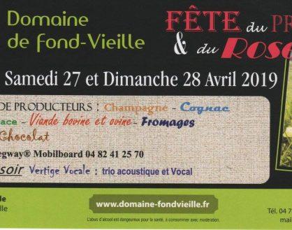 Venez fêter le Printemps et le Rosé au Domaine de Fond-Vieille Samedi 27 et Dimanche 28 avril 2019